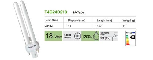 Bombilla Inyectable 2 pin G24d2 18W BC de Megaman