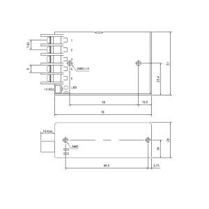 Fuente de alimentación 12V IP20 - Meanwell