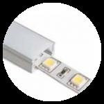 Flächenprofilen. Aluminiumprofile für LED Strip