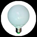 Globe LED balloon lights 120 and 95 screw E27.