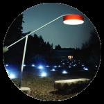 Esterno delle lampade. Illuminazione esterna