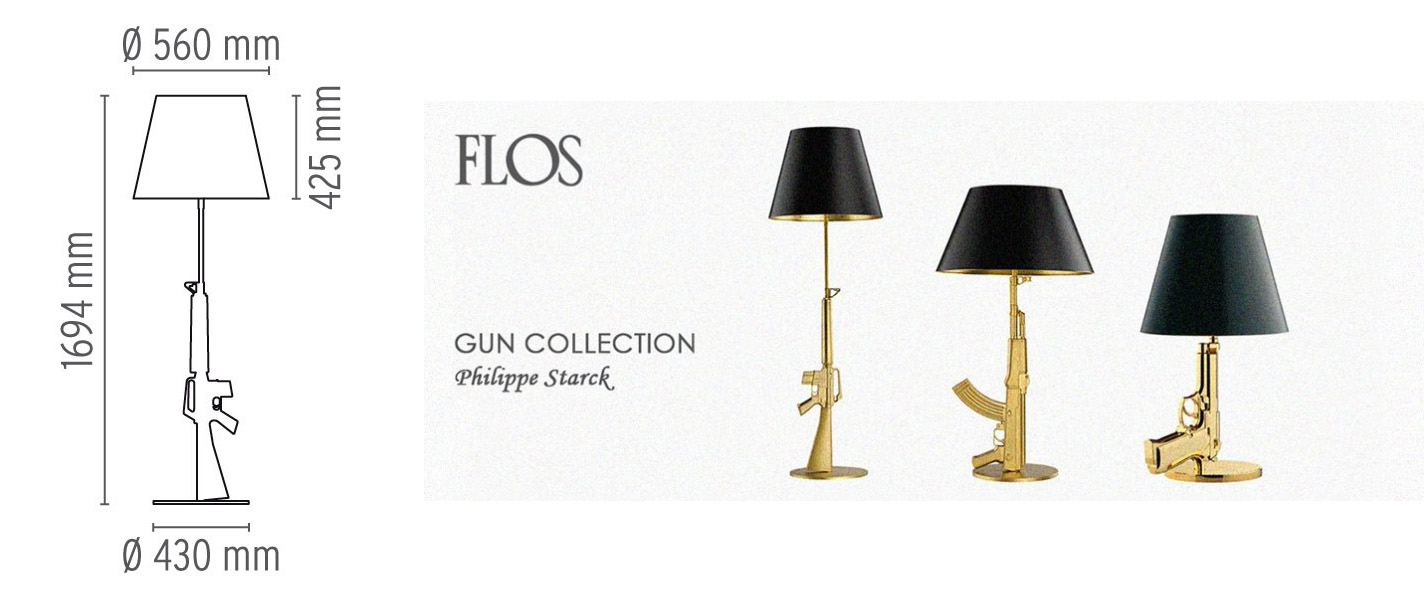 Guns Lounge Oro 18K - Flos