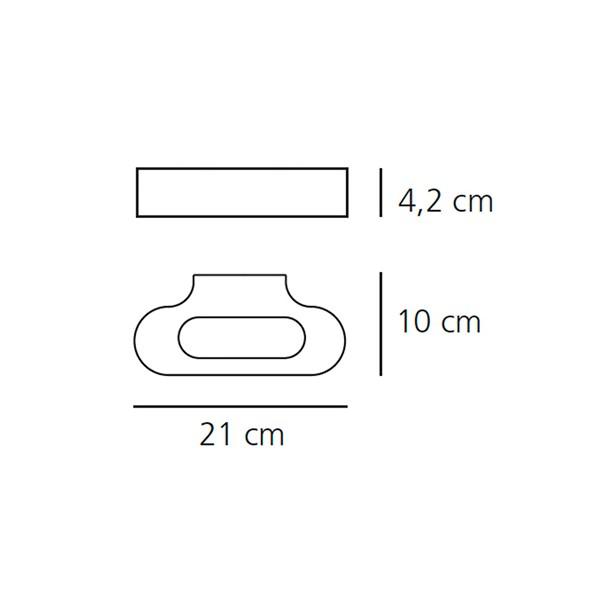 Medidas lámpara Talo LED aplique de Artemide