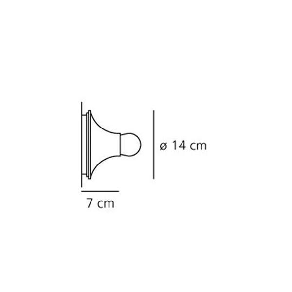 Medidas lámpara Teti aplique / plafón de Artemide