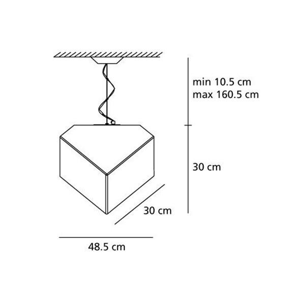 Medidas Lámpara Edge 30 suspensión de Artemide