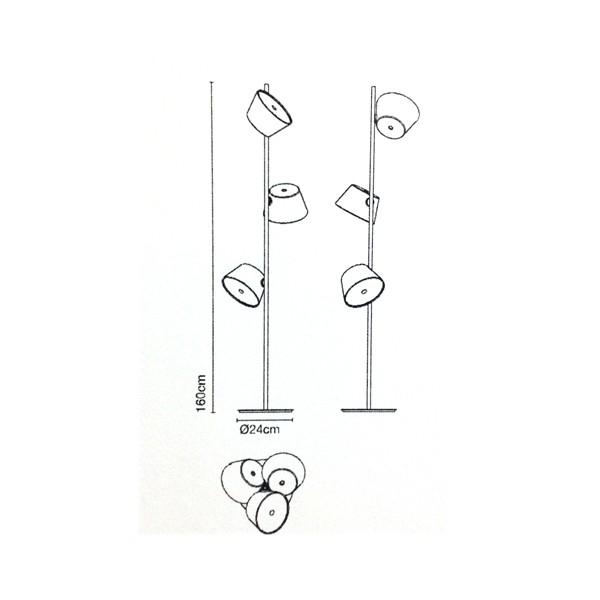 Medidas accesorio lámpara Tam Tam P3 de Marset