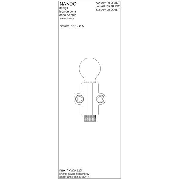 Medidas lámpara Nando aplique de Karman