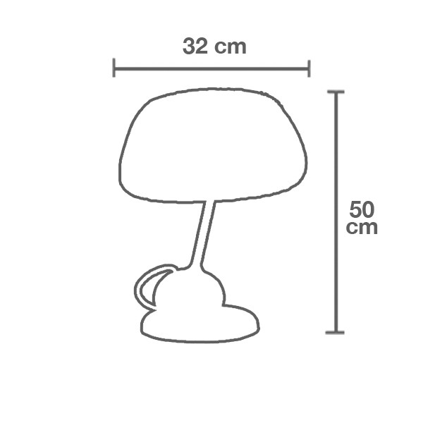 Medidas lámpara TR19 sobremesa de Tom Rossau