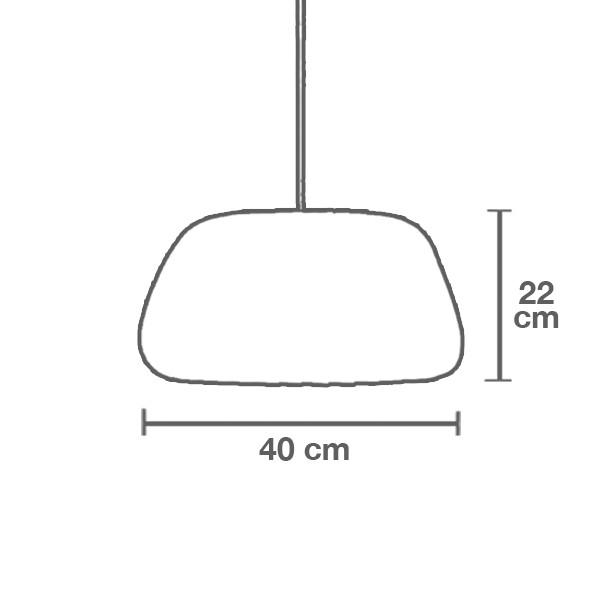 Medidas lámpara TR19 medio suspensión de Tom Rossau
