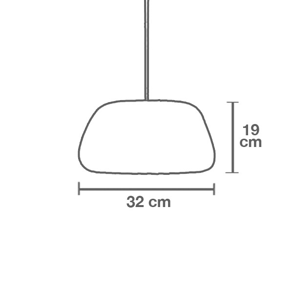 Medidas lámpara TR19 pequeño suspensión de Tom Rossau