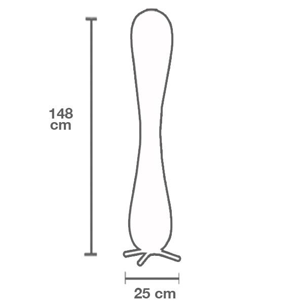 Medidas lámpara TR7 grande pie de Tom Rossau