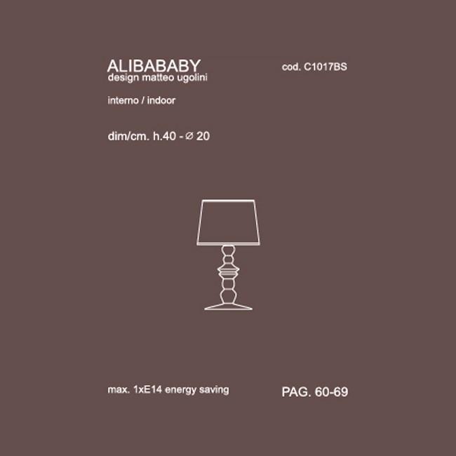 Medidas lámpara Alibababy sobremesa de Karman