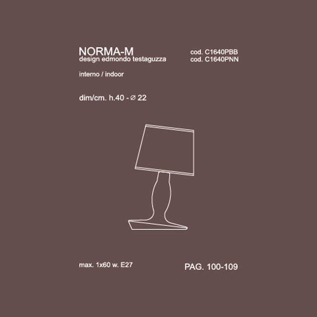 Medidas lámpara sobremesa Noma M40 de Karman