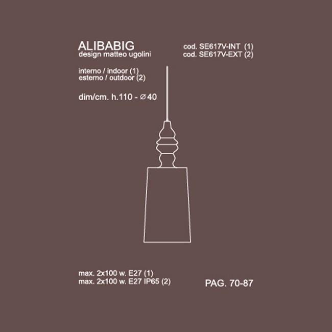 Medidas lámpara Alibabig suspensión de Karman