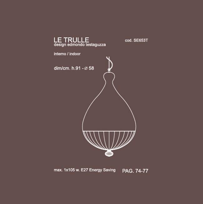 Medidas lámpara Le Trulle grande suspensión de Karman