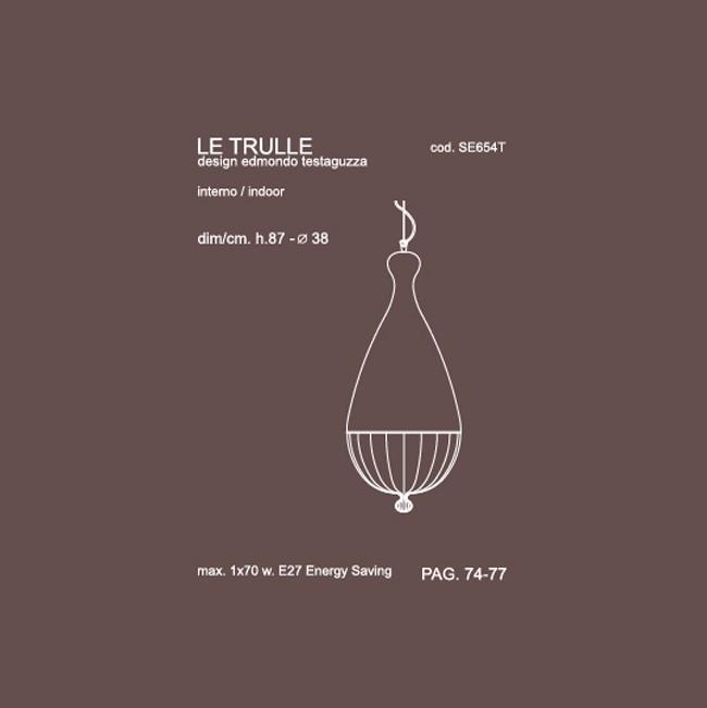 Medidas lámpara Le Trulle medio suspensión de Karman