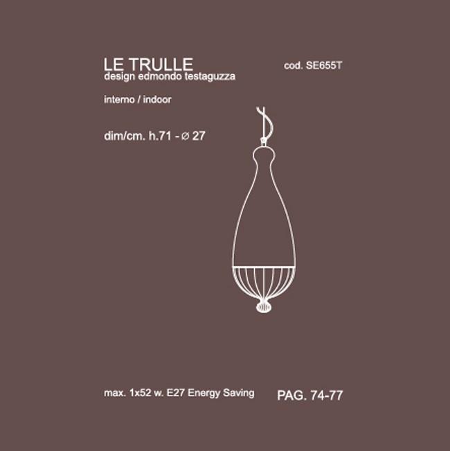 Medidas lámpara Le Trulle pequeño suspensión de Karman