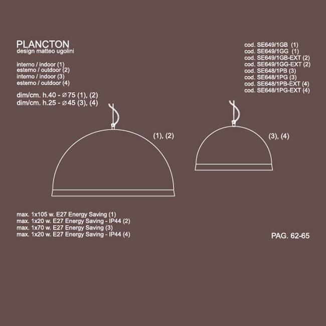 Medidas lámpara Plancton suspensión de Karman