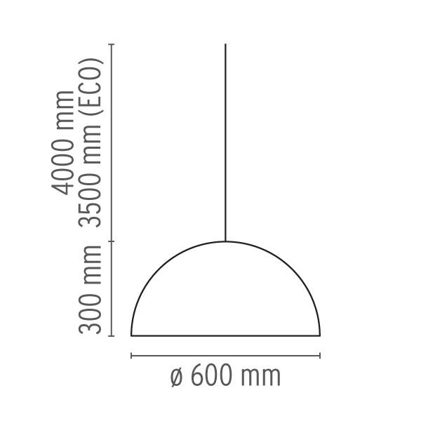 Medidas lámpara Skygarden suspensión de Flos