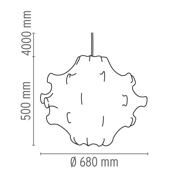 Medidas lámpara Taraxacum 1 suspensión de Flos