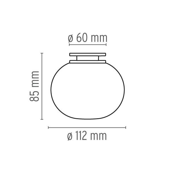 Medidas Mini Glo-Ball aplique de Flos