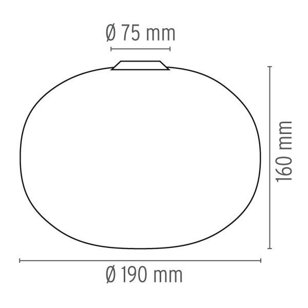 Medidas lámpara Glo-ball C/W Zero de Flos