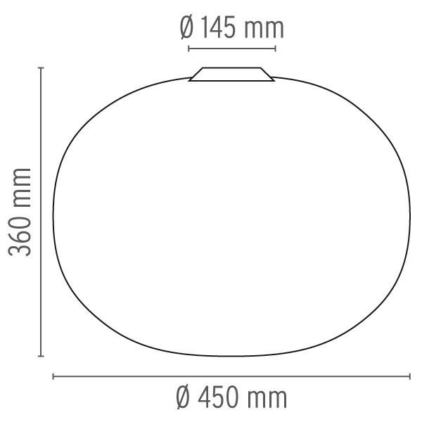 Medidas lámpara Glo-Ball C2 de Flos