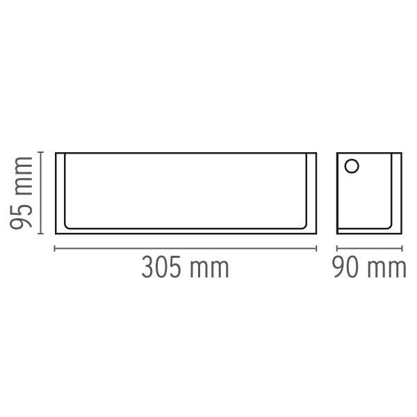 Medidas lámpara de diseño Ontherocks HL aplique de Flos