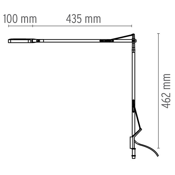 Medidas lámpara Kelvin LED Conexión sobremesa de flos