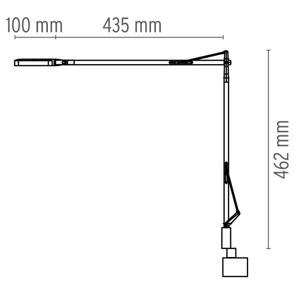 Medidas lámpara Kelvin LED soporte sobremesa de Flos