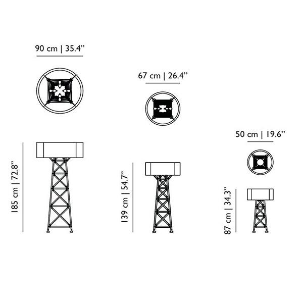 Medidas lámpara Construction Lamp pie de Moooi