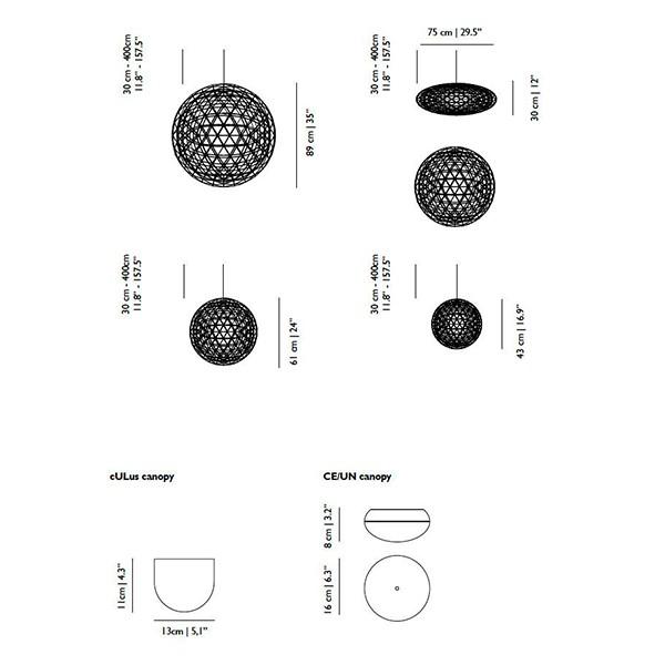 Medidas lámpara Raimond RS suspensión de Moooi
