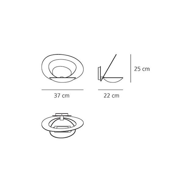 Medidas lámpara Pirce aplique de Artemide