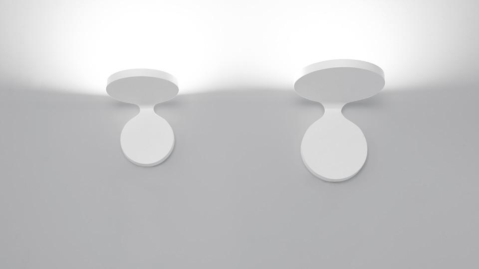 Lámpara Rea pequeña y grande aplique de Artemide